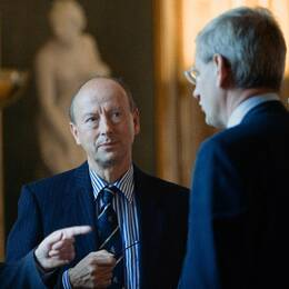 Frank Belfrage arbetade som kabinettsekreterare under utrikesminister Carl Bildt.