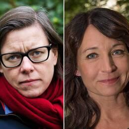 Författarna Lena Andersson, Martina Haag och Maja Lundgren.