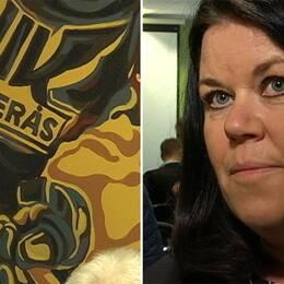 VIK Hockeys ordförande Camilla Törngren.