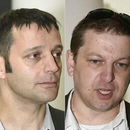Från vänster i bild: Franska journalisten Edouard Perrin, tidigare PwC-anställda Raphael Halet och Antoine Deltour.