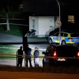 Polis knivskuren