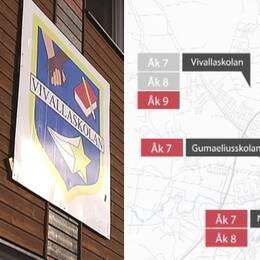Vivallaskolan flytt karta grafik