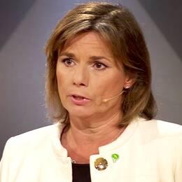 SVT Nyheters inrikespolitiske kommentator Margit Silberstein konstaterar att publiken fick se det nya Miljöpartiet i Agendas partiledardebatt med nya språkröret Isabella Lövin.