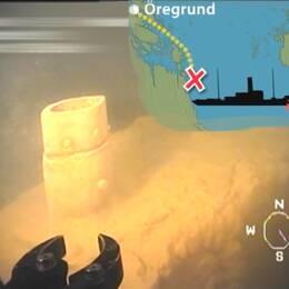 Ubåtsfyndet samt placering för var fartyget och ubåten kolliderade.