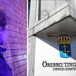 Genrebild männsikohandel, Örebro Tingsrätt i montage