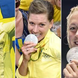 Sarah Sjöström och Emma Johansson har tagit de svenska OS-medaljerna så här långt.