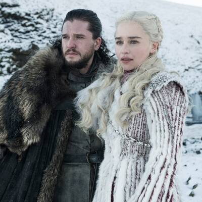 Kit Harington och Emilia Clarke i Game of Thrones