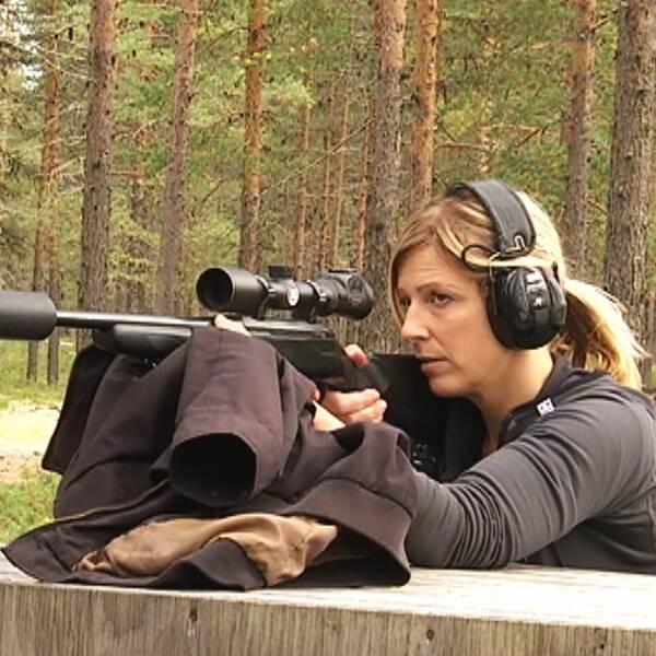Linda Marklund jägare ensam tjej i jaktlaget Kulfors Vindeln