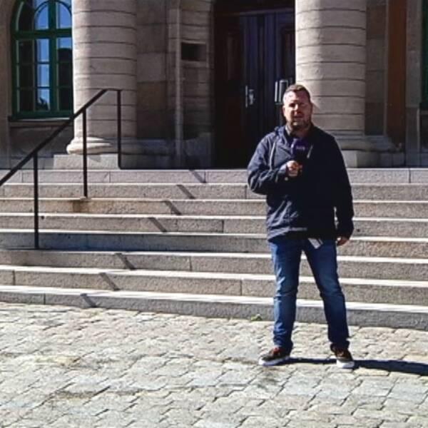 SVT Nyheter Blekinges reporter Martin Hult.