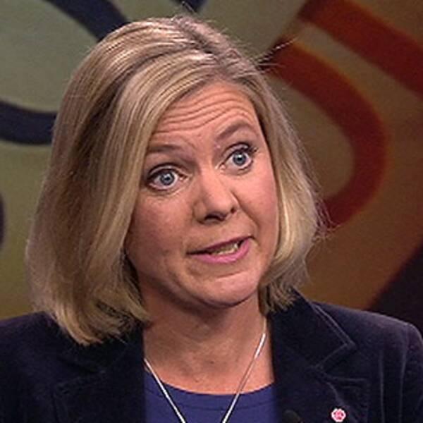 Magdalena Andersson (S), finansminister och Ulf Kristersson (M), ekonomisk-politisk talesperson