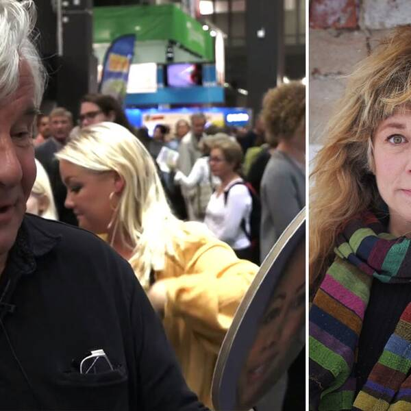 Jan Guillou pratar om Alice Bah Kuhnke på Bokmässan, och Stina Wollter