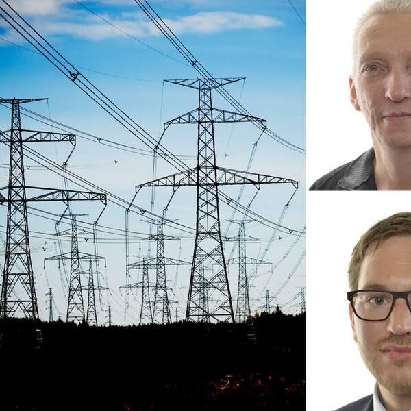 OL3 kärnkraftverk, reaktor 3, byggs i Finland. Birger Lahti och Håkan Svennelin från Vänsterpartiet