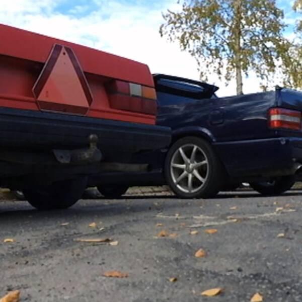 a-traktor, epa-traktor parkerad