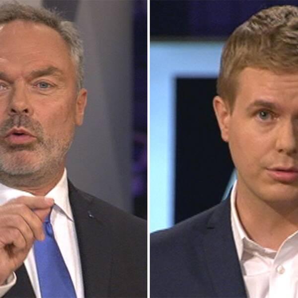 Jan Björklund och Gustav Fridolin.