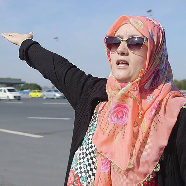Safiye Bayat, hemmafru och tvåbarnsmamma, har blivit nationalhjälte i Turkiet sedan hon ställt sig framför stridsvagnar när militären försökte göra en kupp i somras.