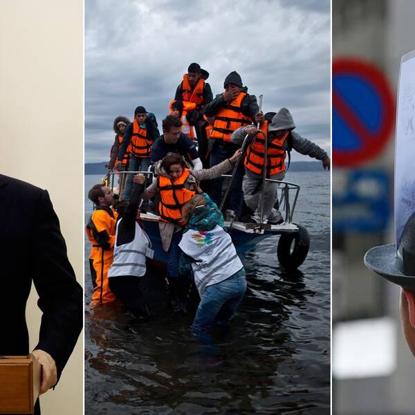 Putin, flyktingar och en som proteserar mot TTIP