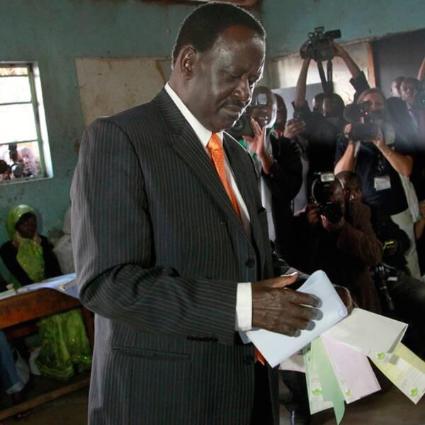 Premiärministern och presidentkandidaten Raila Odinga.