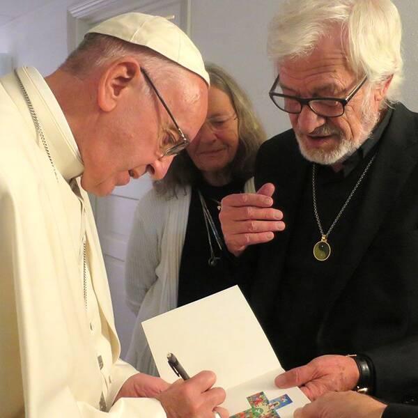 Båstadsbon Carlos Luna fick ett privat möte med påven i dag.