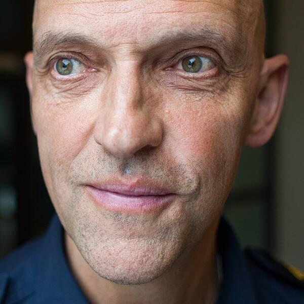 Porträtt på Jale Poljarevius, chef för lokalpolisområde Uppsala Knivsta.