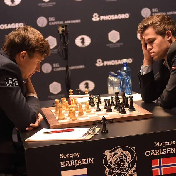 Ryssen Sergej Karjakin slutade i remi och norrmannen Magnus Carlsen