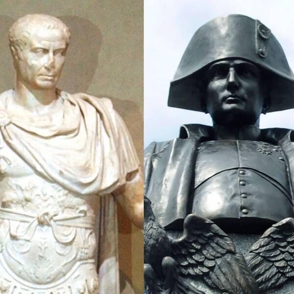 Churchill, Julius Ceasar och Napoleon.