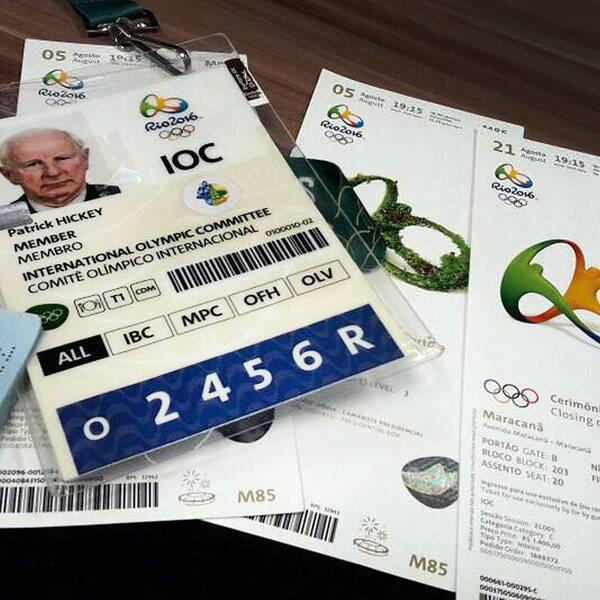 Europeiska olympiska kommitténs tidigare ordförande, Patrick Hickey, är misstänkt för olaglig biljettförsäljning i samband med Rio-OS – nu har han släppts mot borgen.
