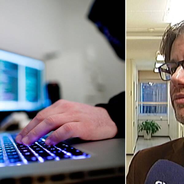 Hacker och Björn sundin i montage