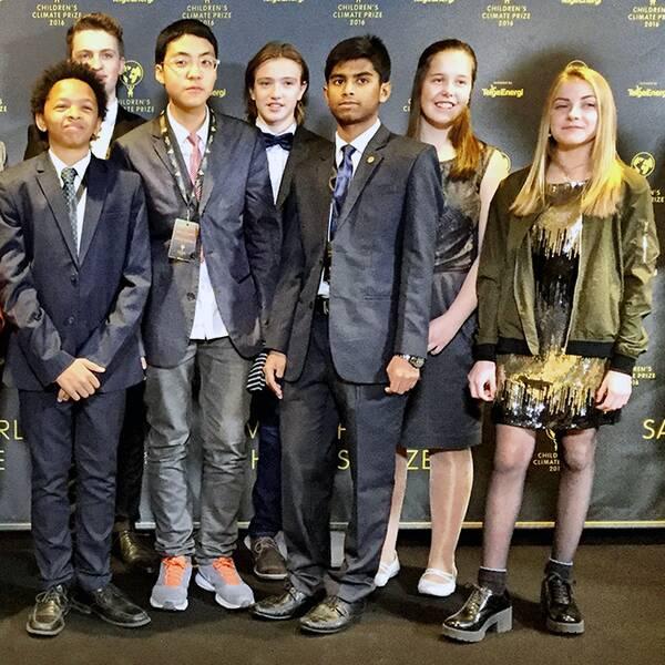Några av de unga klimatkämparna