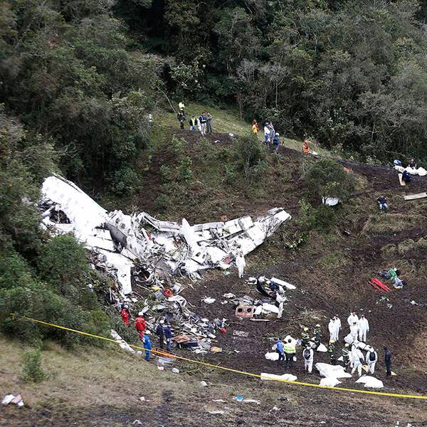 Flygkraschen i Colombia