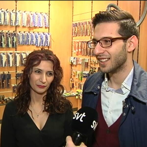 Shahla och Hesam Ahmadi.