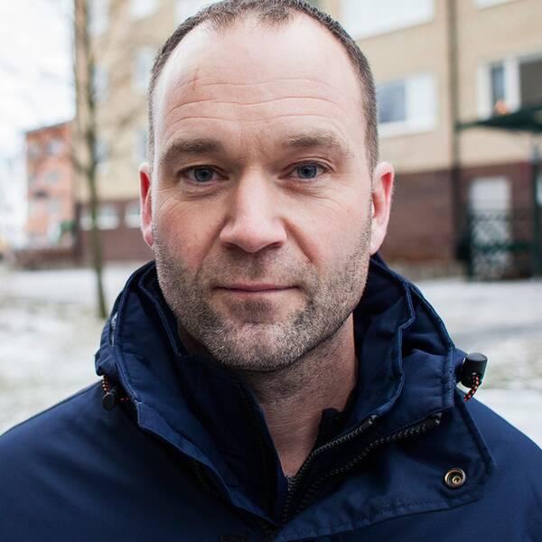 Porträtt på platschefen Joakim Olsson. Anticimex