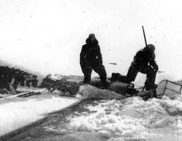 Gunnar Lundin från Täby satt i Röd Martin när Röd Niklas försvann i snöstormen i februari 1946.