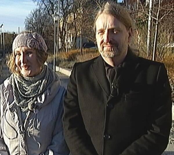 Jacob Nordangård och Inger Glimmero från Arkitekturupproret.