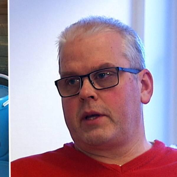 Burkar med snösalt + Jan Westerberg, teknisk chef på Kils kommun (montage).