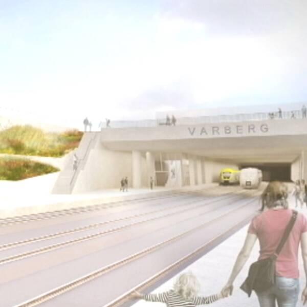 Skiss över nya Varbergstunneln
