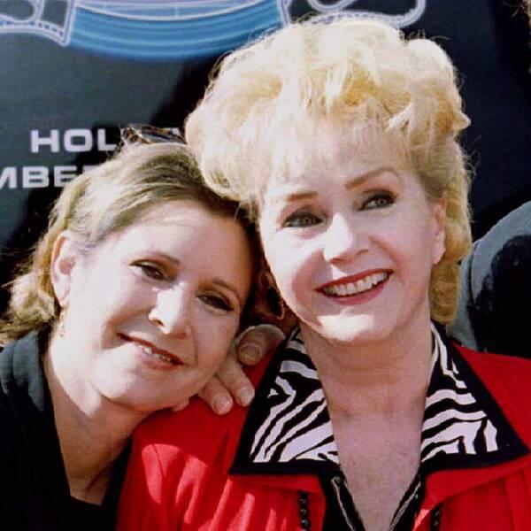 Carrie Fisher och Debbie Reynolds.