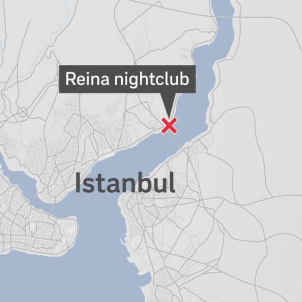Nattklubben Reina ligger belägen i stadsdelen Ortaköy i Istanbul precis vid sundet som markerar gränsen mellan Europa och Asien. Foto: SVT