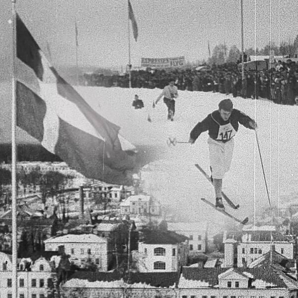 Montage av bilder från SM 1951 i Söderhamn.