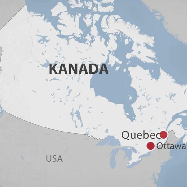Enligt polisen i Quebec harminst sex personer dödats och åtta skadats i terrordådet.