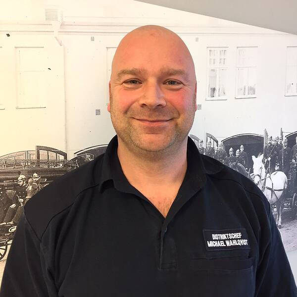 Michael Wahlqvist, distriktschef för räddningstjänsten i Norrköping, Söderköping och Valdemarsvik.
