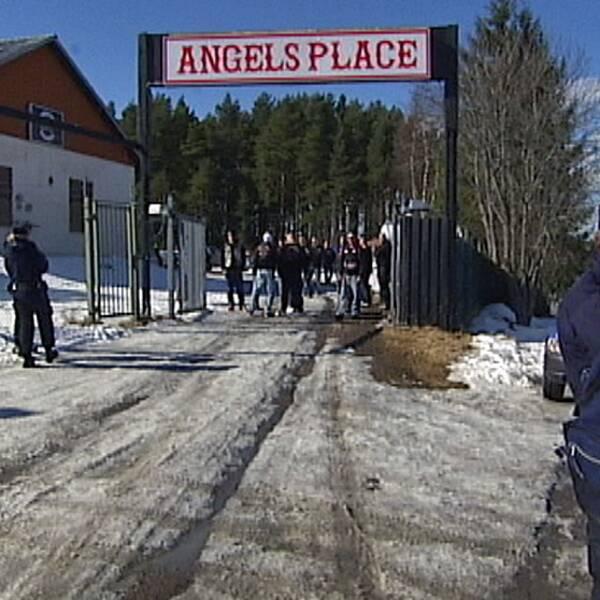 Hells angels klubblokal utanför Karlstad