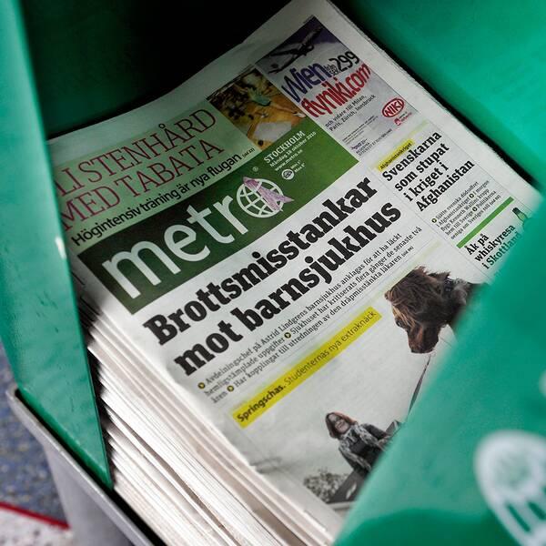 Gratistidningen Metro delas ut dagligen i Sveriges tre största städer.