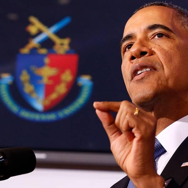 President Barack Obama höll ett linjetal om kampen mot terrorismen.