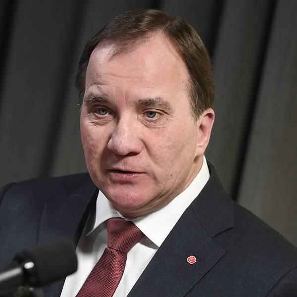 Socialdemokraternas partiledare Stefan Löfven presenterar partistyrelsens förslag på nya politiska riktlinjer.