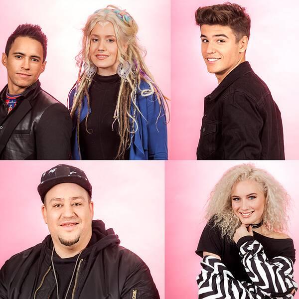 Artisterna som är i final i Melodifestivalen 2017.