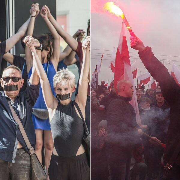Konflikten mellan Polens kulturliv och dess nationalistiska rörelse har pågått sedan regeringskiftet 2015.