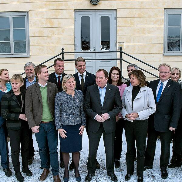 Regeringen vid ett möte i Falun 9 februari 2017.