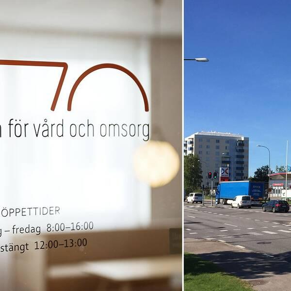 En bild på IVO och Ekebykorsningen i Karlskoga i ett montage