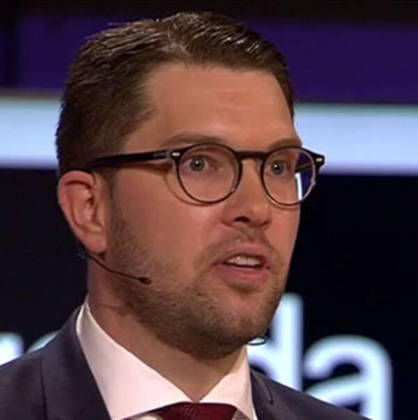 Jimmie Åkesson (SD) i partiledardebatten
