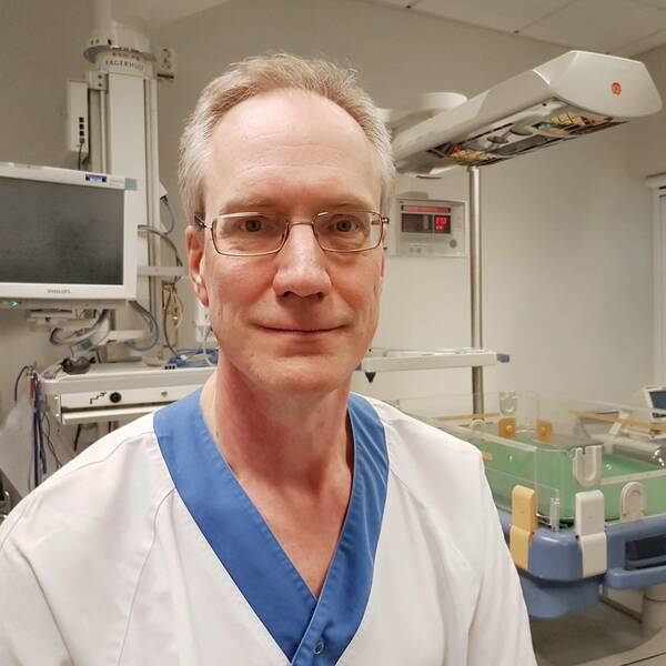 Erik Normann, sektionschef på neonatalogin